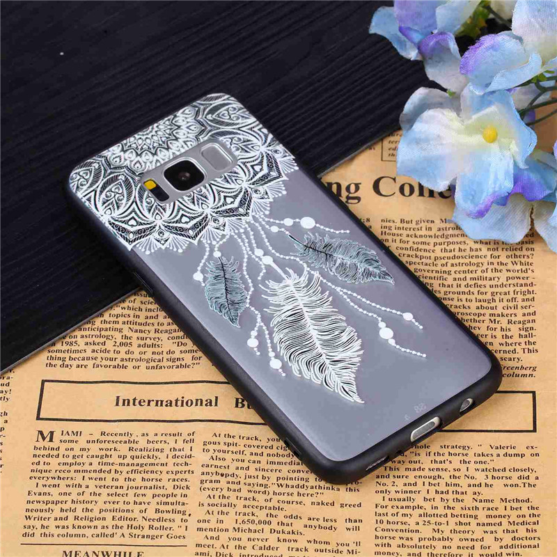 Silicon For Coque Samsung Galaxy S8 Cases Plus for Samsung S8 Case Unicorn  for Case Samsung Galaxy S8 S8 Plus Acrylic Back Cover
