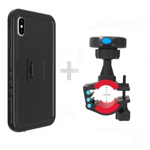 Image 3 - New For iPhone XS Max Bicycle Mount Shockproof Case bag, for Bike phone holder Motorcycle Rack GPS moto support Handlebar stand
