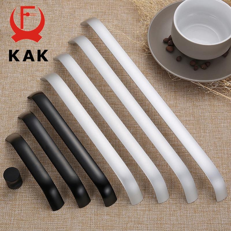 KAK Aluminium Alloy Black Cabinet Knobs Kitchen Cabinet Handles Drawer Knobs Pulls Black Furniture Handle Cabinet Hardware