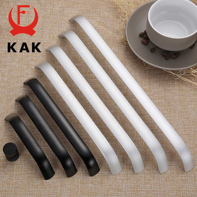KAK Aluminium Alloy Black Cabinet Knobs Kitchen Cabinet Handles Drawer Knobs Pulls Black Furniture Handle Cabinet Hardware