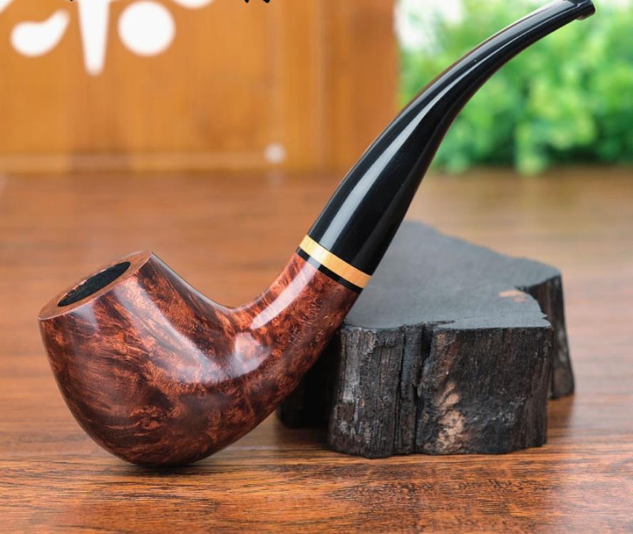 Tuyaux de tabac pour hommes de 9 MM Briar tuyau de tabac incurvé fait à la main