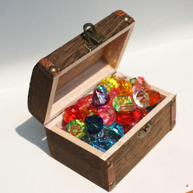 Fresh Children's plastic toys play house gem beaded pirate treasure hunt  PJ83