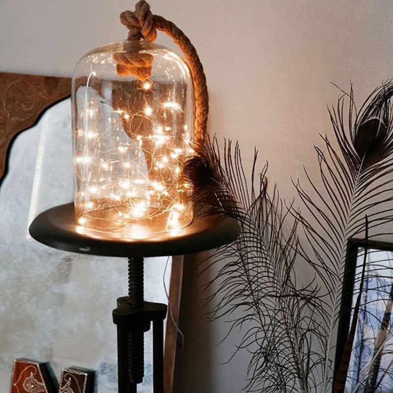 Feimefeiyou 50 100 светодиодный Звездное Строка фонари батареи фея Micro СВЕТОДИОДНЫЙ прозрачный Медный провод для вечерние рождественское свадебное 5 видов цветов