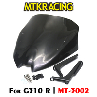 MTKRACING Windshield For BMW G310R 2017 On Motorcycle Windshield Windscreen with Mounting bracket High Quality Acrylic Plastic