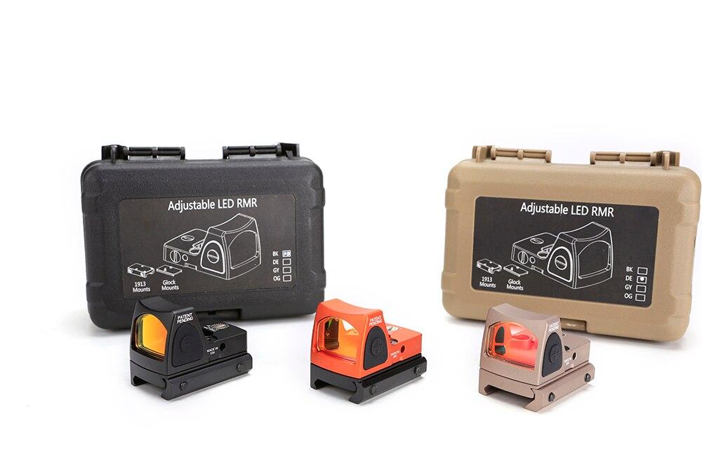 Magorui refleks taktik ayarlanabilir kolimatör Glock RMR Mini kırmızı nokta görüşü kapsamı