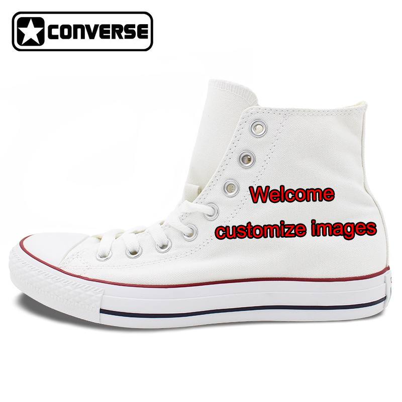 Custom WHITE Converse All Star Hand Painted Shoes High Top Canvas Sneakers Price Varies with Design mens converse shoes custom hand painted hunger game high top black canvas sneakers unique presents