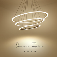 Modern LED Suspension Chandelier Oval Strip Plexiglass Chandelier Home Lighting For Kitchen Dining Room Lamp Lustre