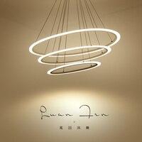 Modern LED Suspension Chandelier Oval Strip Plexiglass Chandelier Home Lighting For Kitchen Dining Room Lamp Lustre