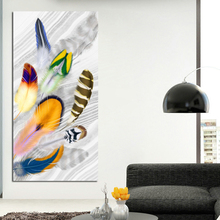 Golden Feather Print Posters