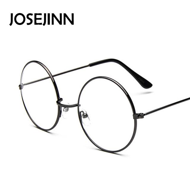 Vintage Glasses Frame Plain Round Metal Optical Frame For men/women Eyeglass Clear Lens oculos