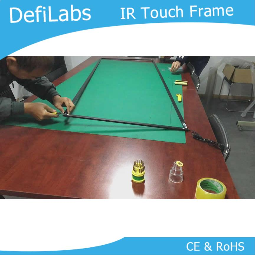 "DefiLabs 10 touch points 55"" IR  Touch Screen Panel  Frame Overlay"