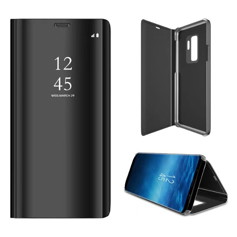 For <font><b>Samsung</b></font> Galaxy S9 Plus S8 S7 S6 edge A8 2018 <font><b>Note8</b></font> <font><b>Case</b></font> Flip Stand Clear View Smart Mirror Cover A3 A5 A7 J3 J5 J7 2017 <font><b>Case</b></font> image