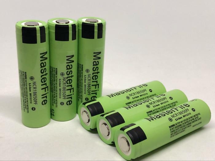 MasterFire 6 pçs/lote NCR18650PF Originais 18650 3.7V 2900mAh Bateria Recarregável Baterias De Lítio 10A Discahrge Para Panasonic