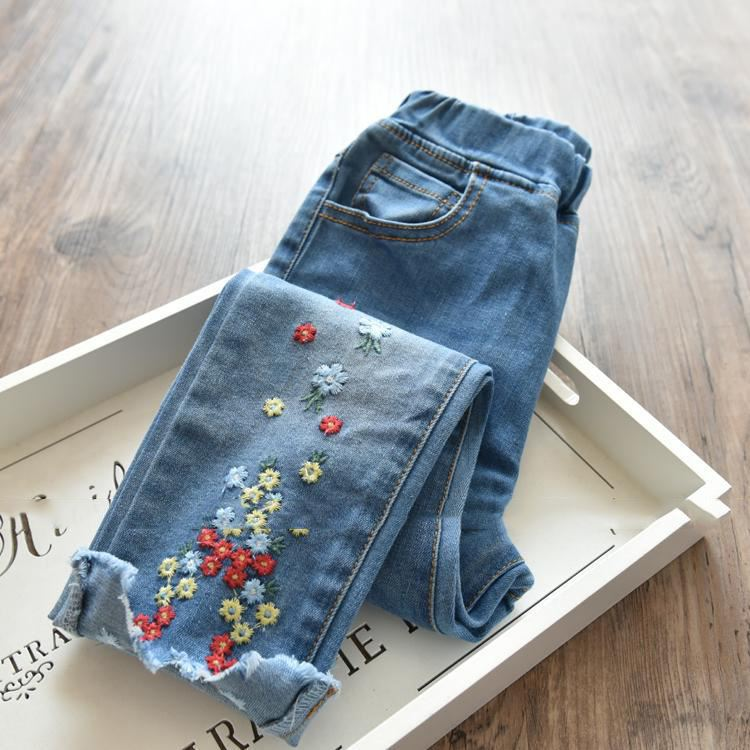 Bottoms Women's Clothing 2019 Latest Design Free Shipping High Quality New Arrival Hot Drilling Low Pants Slim Jean Pants Woman Long Trousers As The Picture We Take Customers As Our Gods
