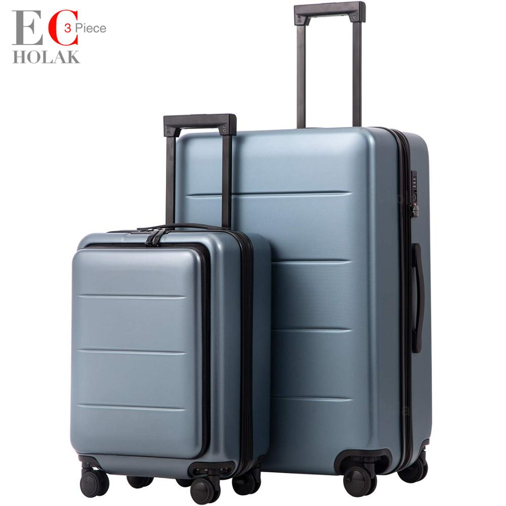 3 Piece Set Luggage Expandable Carry on Spinner Wheels Rolling Luggage TSA lock Business Travel Vacation