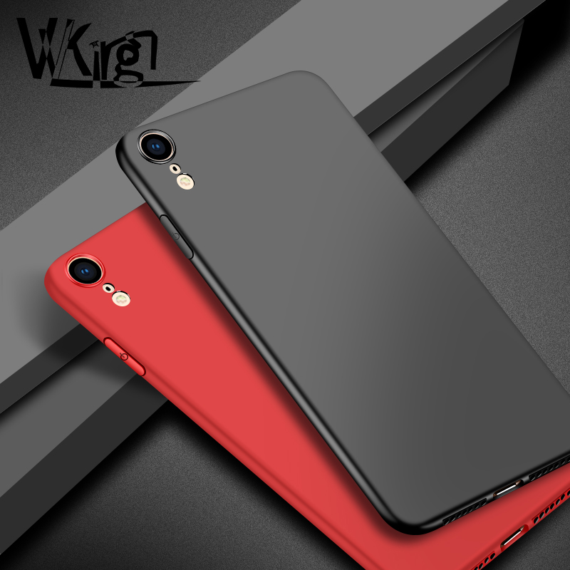 XR Phone cases For iphone XR Case Silicone TPU Soft Back For Apple XR Cover Ultra Thin Plain Simple Candy Colors Matte Coque