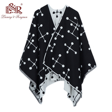 2018 New Design Winter Poncho Scarf For Women Cashmere Poncho And Copes Wool Print Women Scarfs Foulard Femme Shawl Poncho Sjaal calico print poncho blouse