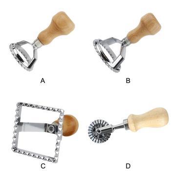 Классический круглый и квадратный резак для макаронных изделий, инструменты для печенья тортов, кухонная форма для макаронных изделий, инструмент для штемпеля, резак с деревянной ручкой для пляжа
