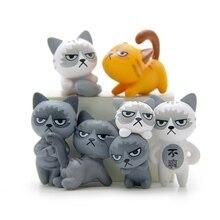 6 шт./компл. 3-4 см является допустимой милые несчастной кошки фигурка игрушки для детей, игрушки украшения детской комнаты детские подарки для микро ландшафтного дизайна кукол