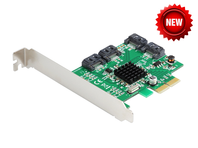 Quad SATA III Port RAID PCI-e X2 Card HyperDuo 4 Ports SATA 6Gbps 3.0 SSD + HDD PCI Express card Built RAID0 RAID1 RAID10 2 ports rs485 422 pci card optical isolation surge protection 1053 chip