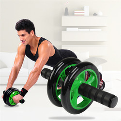 New no noise green abdominal wheel ab roller with mat for exercise fitness gym equipment accessory.jpg 250x250