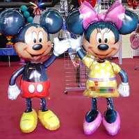 2 Pcs 54 135cm Mickey Minnie Mouse Foil Balloons Classic Kids Toys Birthday Party Supplies Big