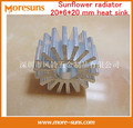 Fast Free Ship 20pcs/lot New lamp accessories light fittings two holes Sunflower radiator 20*6*20 mm heat sink