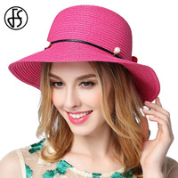 5 Colors Wide Brim Sun Hats Women 2017 Summer Beach Floppy Straw Hat Fashion Floral Chapeu