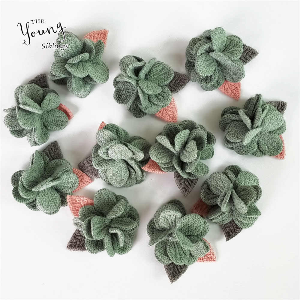 4cm Handmade Artificial Flower Head For Wedding Decoration DIY Wreath Gift Scrapbooking Craft Fake Flower Clothing Accessories