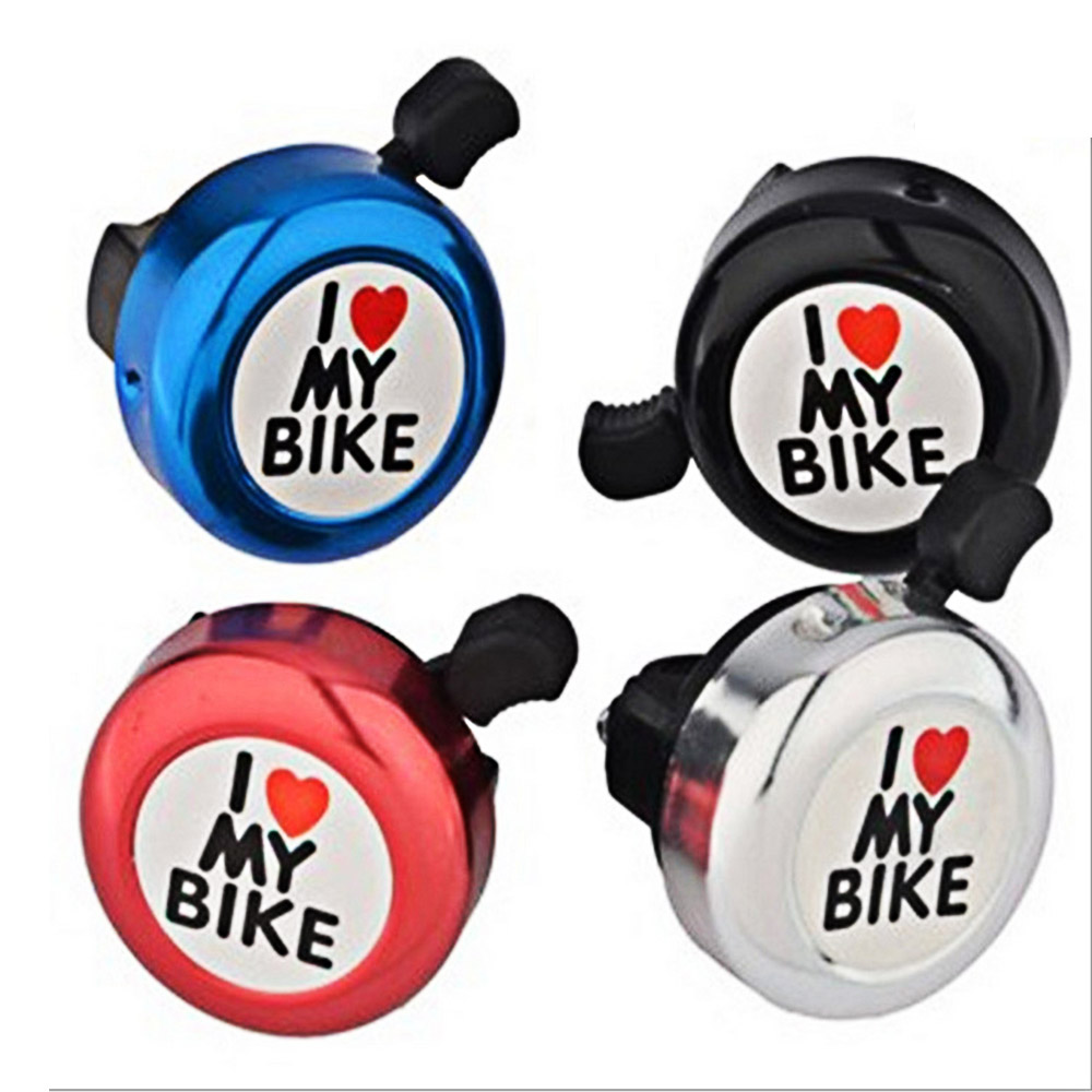 New Metal Bicycle Horn Ring Bell I Love My Bike Warning Bell Safety Accessories