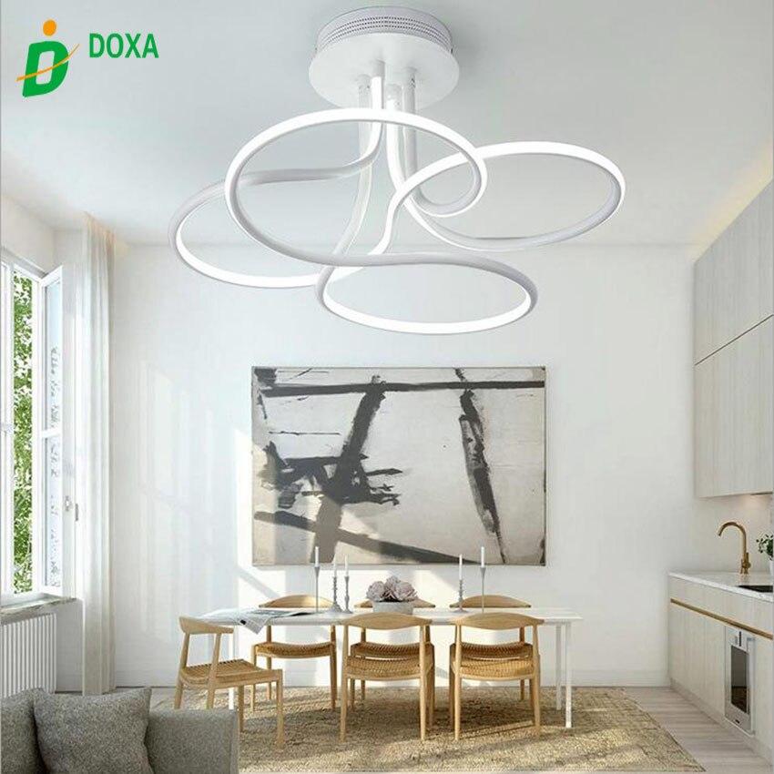 2017 Neuesten Modernen Minimalistischen Acryl Dimmbare Led Deckenleuchte Wohnzimmer Schlafzimmer Licht Profil Geformt Leuchten
