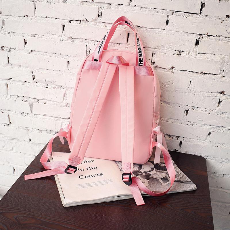 Menghuo Large Capacity Backpack Women Preppy School Bags For Teenagers Female Nylon Travel Bags Girls Bowknot Backpack Mochilas (36)