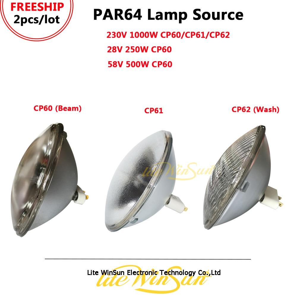 Litewinsune FREESHIP 2/Lot Bulb 1000W Lamp PAR 64 1000 W PAR64 CAN 230 Volts