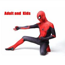 New Adult Kids Far From Home Peter Parker Cosplay Costume Zentai Super Hero Bodysuit Suit Jumpsuits