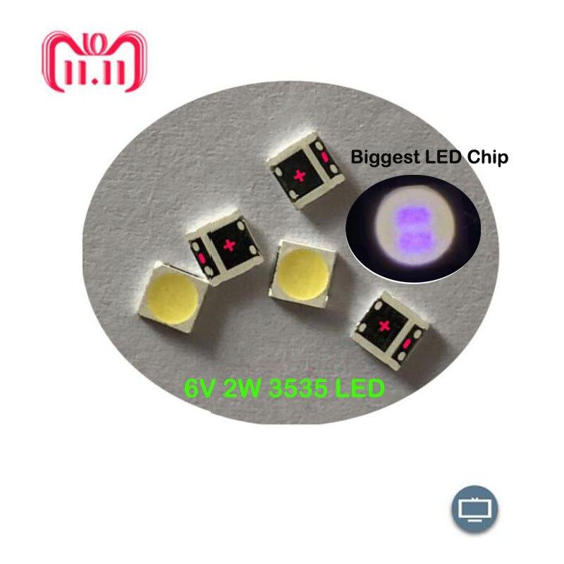 50pcs LG Innotek LED LED Backlight High Power LED 2W 6V 3535 Cool White LCD Backlight For TV Application  Replace LATWT391RZLZK