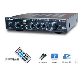 все цены на 220V AMP support USB.SD card. Radio. Dual microphone AV-299 200W+200W HIFI 2.0 channel home theater Karaoke OK power amplifier онлайн