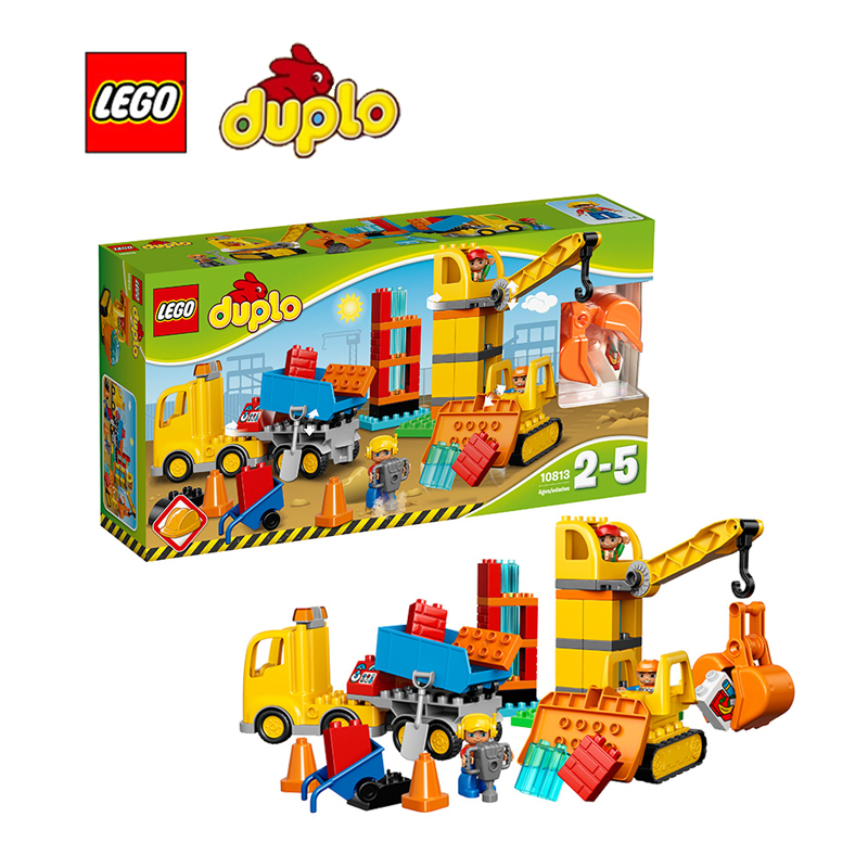 Lego Duplo Building Bricks Toy Big Construction Site Building Blocks Toy  For Children LEGC10813
