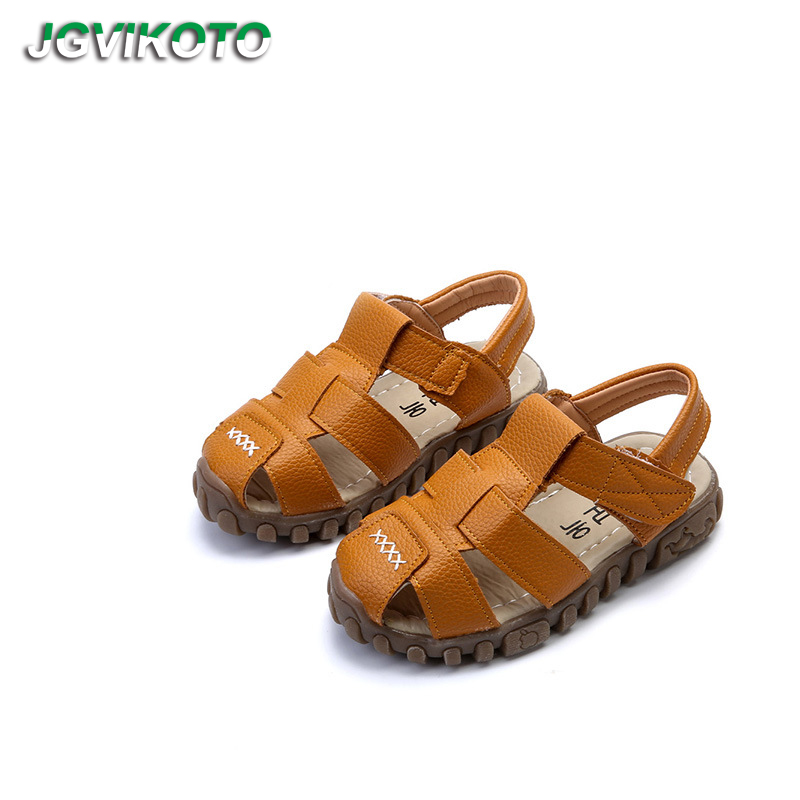Children's Sandals For Toddlers Boys Fashion Brand Kids Shoes Summer Beach Sandals Toe-capped Soft High Quality 3 Colors 21-36