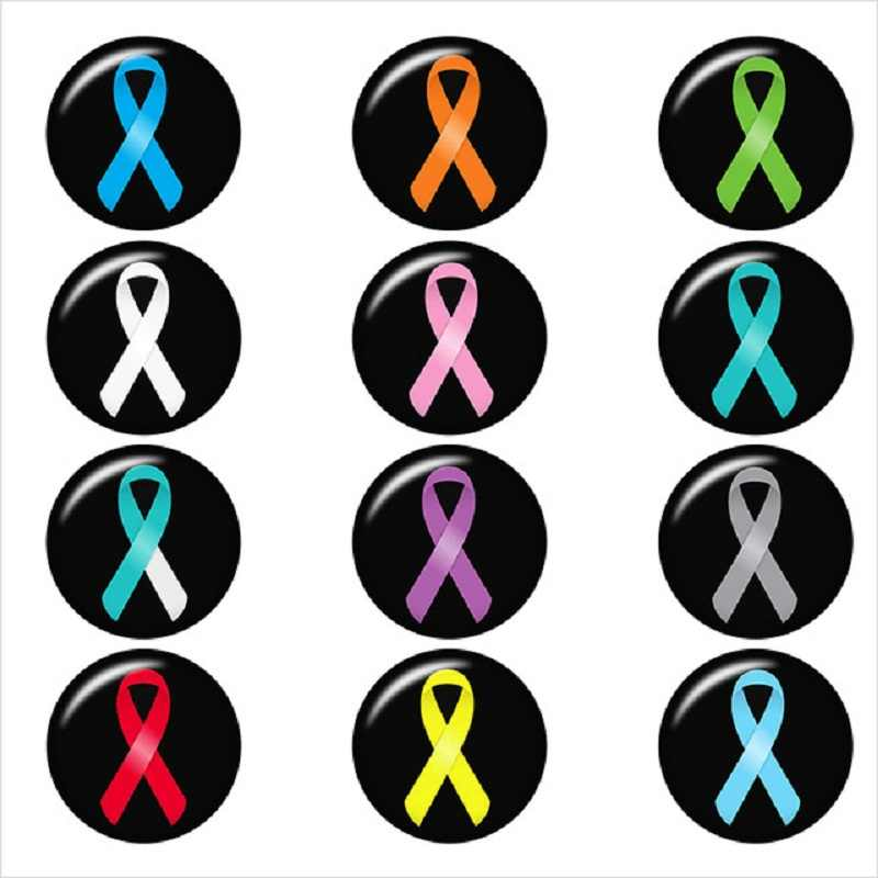 10PCS מעורב סרטן סרט הצמד כפתור עגול תמונה זכוכית הצמד תכשיטי כפתור