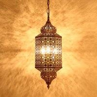 Все Медь старинные ручной резные подвесной светильник ресторан люстры суд исследование лампы. e14 * 3, AC 110 240 В.