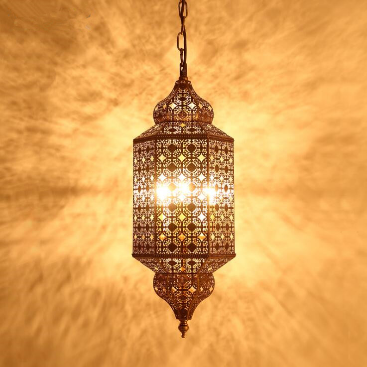 All copper vintage hand carved carved pendant lamp restaurant chandeliers court study lamp.E14*3,AC:110 240V.