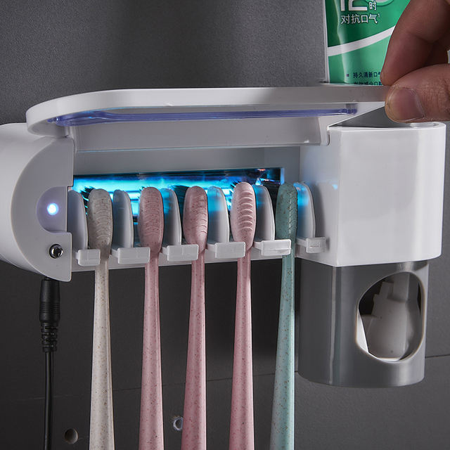 Antibacterial Ultraviolet Sterilizer Automatic Toothpaste Dispenser