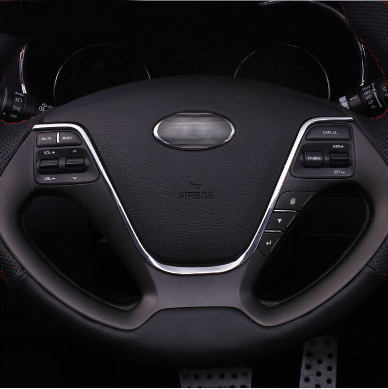 Steering Wheel Panel Cover Badge Sticker Insert FIT FOR KIA CERATO FORTE K3