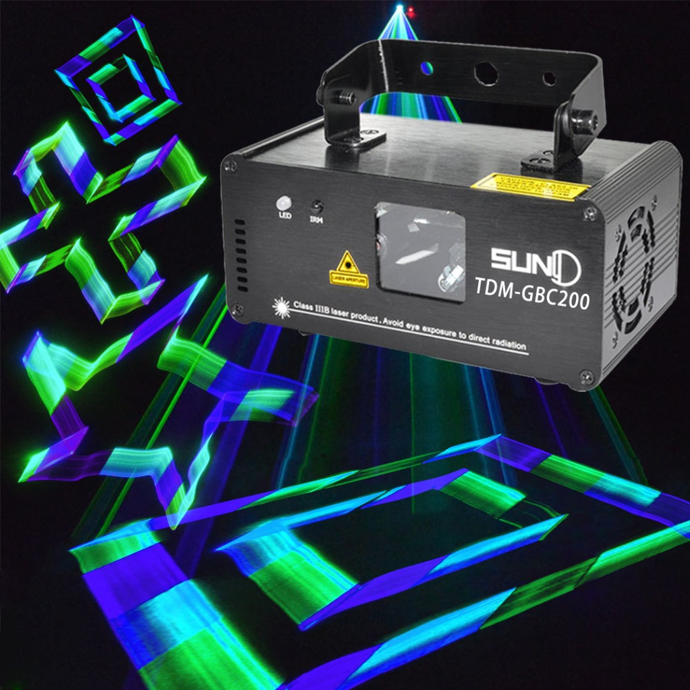 DMX Control 3D Effect Laser Scanner GBC Green Blue Cyan Channel Powerful Colorful Stage Lighting Projector Party Light Beam ламинатор gbc 1100l 4400747eu