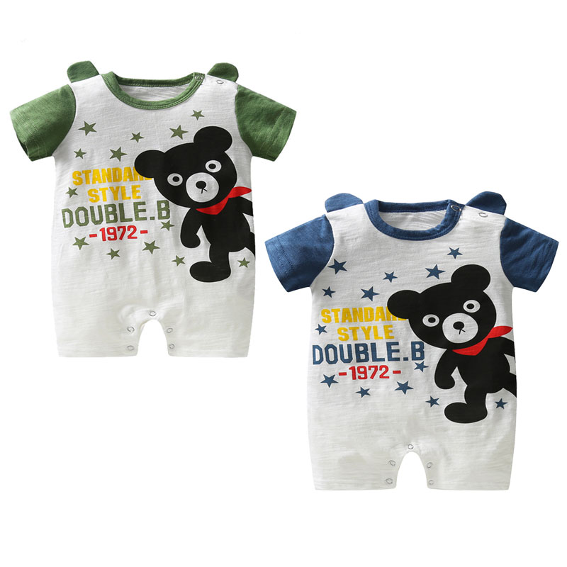 Newborn baby rompers jumpers for baby short sleeve infant jumpsuits print cartoon rompers baby girl clothes summer kids clothes