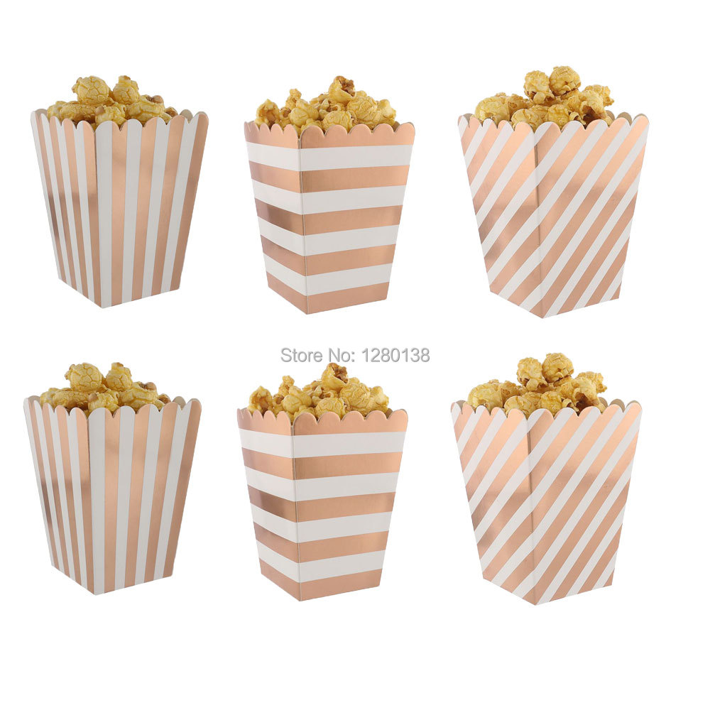 Favor Popcorn Boxes Striped Candy Boxes Birthday Favors Party Boxes ...