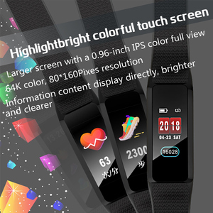 Image 3 - 2019 smart armband fitness tracker Smart armband Wasserdichte Farbe Heart Rate Blutdruck monitor für Android IOS