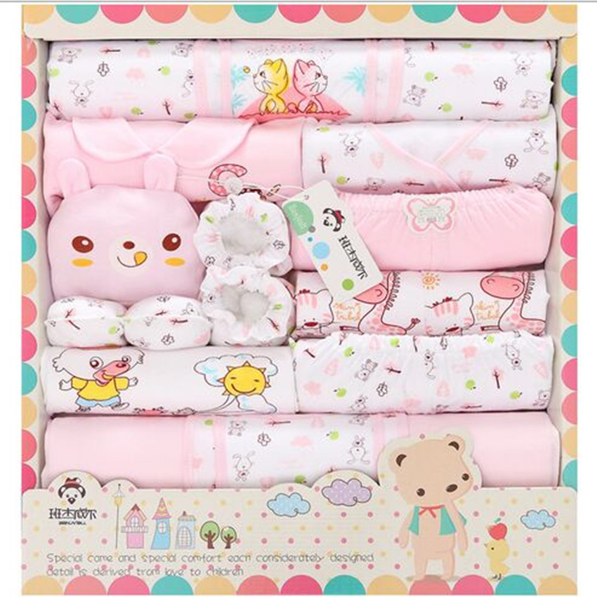 100% Cotton Banjvall Baby Brand Newborn Cotton Baby Clothes Boys Girls Baby Set Character Bear Baby Girl Clothes 18 Piece