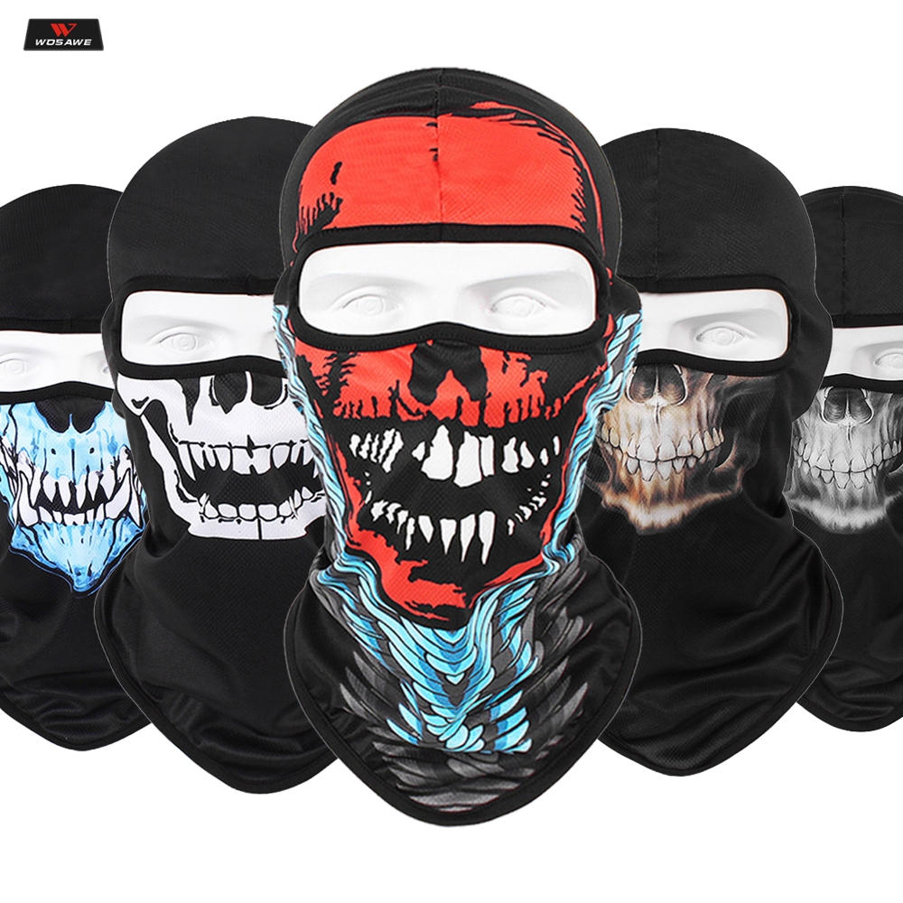 Halloween-Mask Scarf Headband Balaclavas Robot Motorcycle-Face-Mask Joker Cycling Shied
