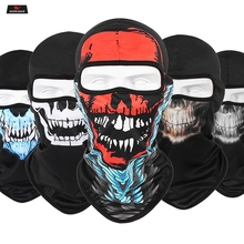 Motorcycle Face Mask Cool Robot Skeleton Halloween Scarf Joker Headband Balaclavas for Cycling Fishing Ski Shied
